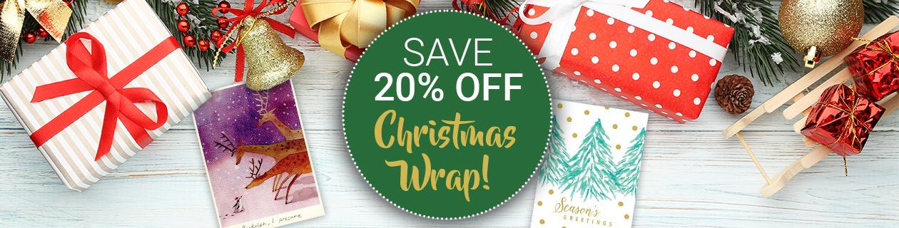 20% off Christmas Wrap