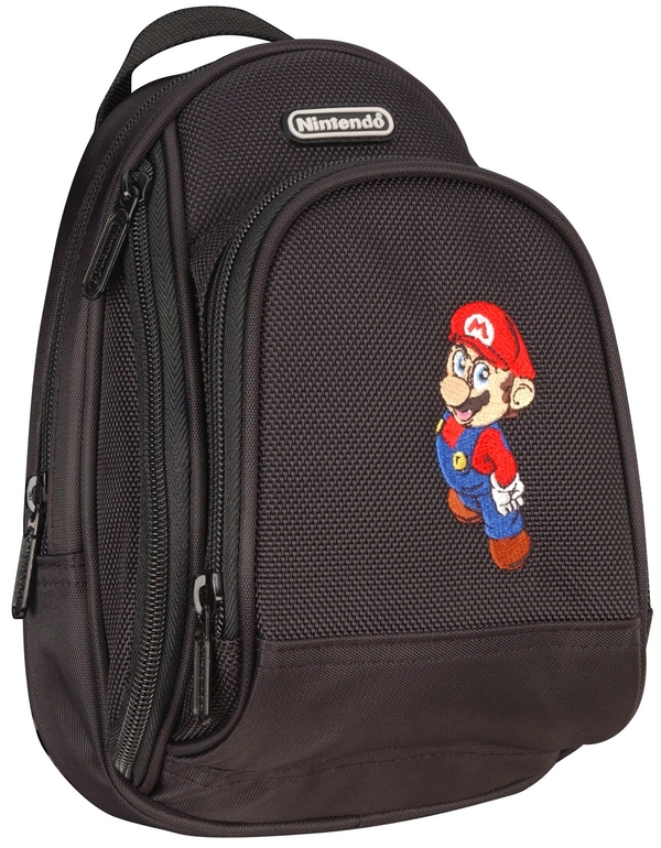 Mario Back Pack Case - Black for Nintendo DS image