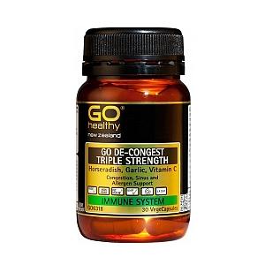 Go Healthy: GO De-Congest Triple Strength (30 Capsules)