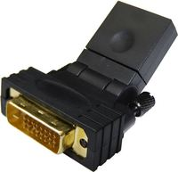 DYNAMIX HDMI Female To DVI-D (24+1) Male Swivel Adapter