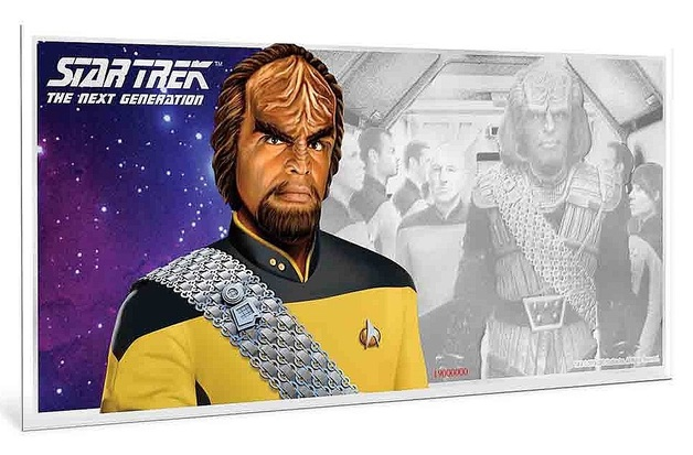 NZ Mint: Star Trek - Silver Coin Note - Worf 2019 (5g Silver)