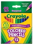 12 Half Size Coloured Pencils - Crayola
