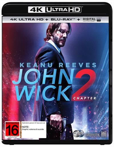 John Wick: Chapter 2 on Blu-ray, UHD Blu-ray
