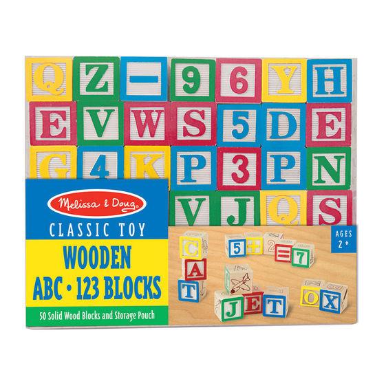 Melissa & Doug: Wooden ABC/123 Blocks Set image