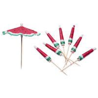 Sunnylife Cocktail Umbrellas - Watermelon (Set of 24)