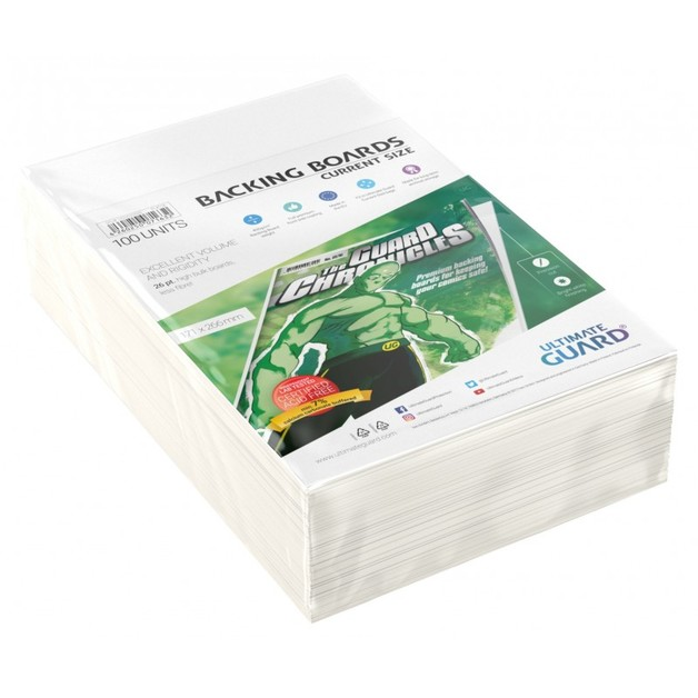 Ultimate Guard: Comic Backing Boards - Current (100-Pack)