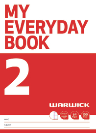 Warwick: My Everyday Book 2 - Unruled & 7mm Ruled Alternate image