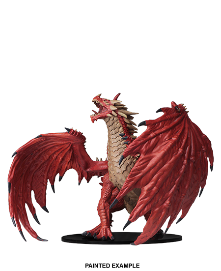 Pathfinder Deep Cuts Unpainted Miniatures - Gargantuan Red Dragon image