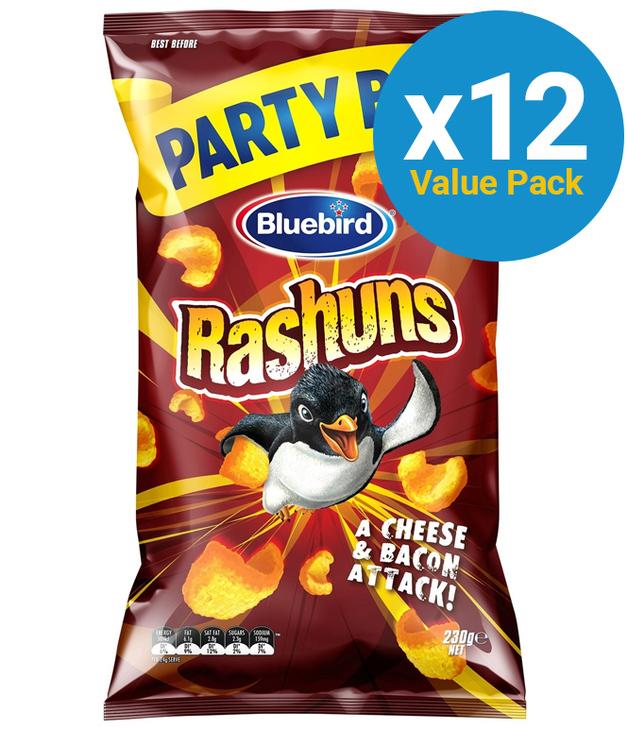 Bluebird Rashuns Party Bag 230g (12 Pack)