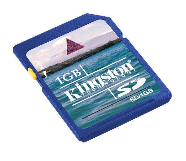 Kingston 1GB SecureDigital (SD) Memory Card
