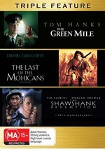 Green Mile / Last Of The Mohicans / Shawshank Redemption - Triple Feature (3 Disc Set) on DVD