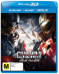 Captain America: Civil War on Blu-ray, 3D Blu-ray, DC+