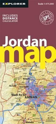 Jordan Road Map by Explorer Publishing and Distribution