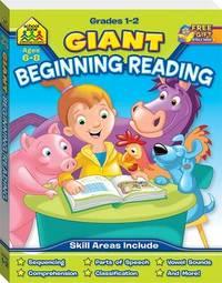 School Zone Giant Beginning Reading Workbook