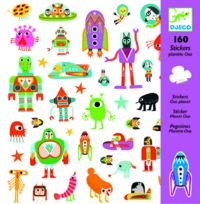 Djeco: Design - Planet Oxo Stickers