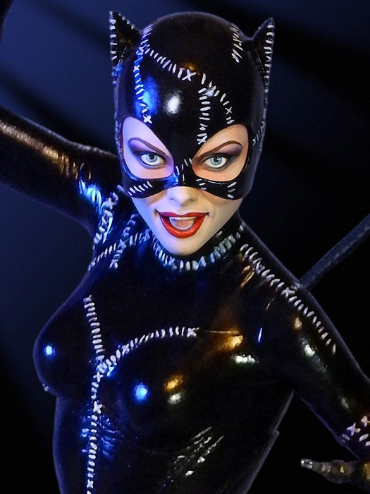 batman returns catwoman maquette statue at mighty ape nz