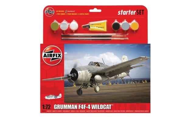 Airfix Grumman F4F-4 Wildcat Starter Set 1:72 Model Kit