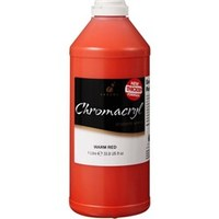 Chromacryl Students' Acrylic Paint 1 Litre (Warm Red)