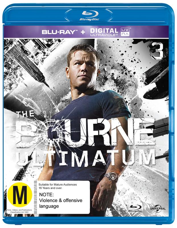 The Bourne Ultimatum on Blu-ray, UV