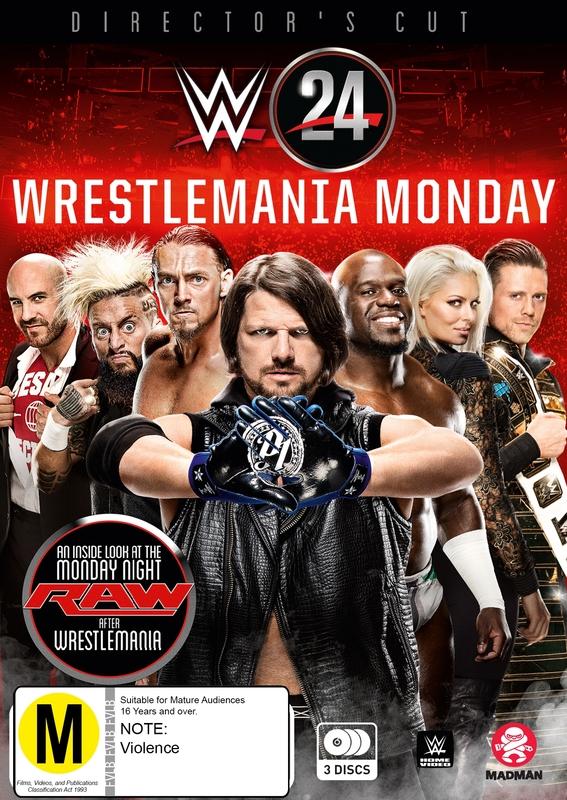 WWE: WWE 24: Wrestlemania Monday on DVD