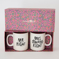 Natural Life: Set Of 2 Mugs - Right/Always Right