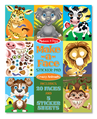 Melissa & Doug: Make-a-Face Crazy Animals Sticker Pad