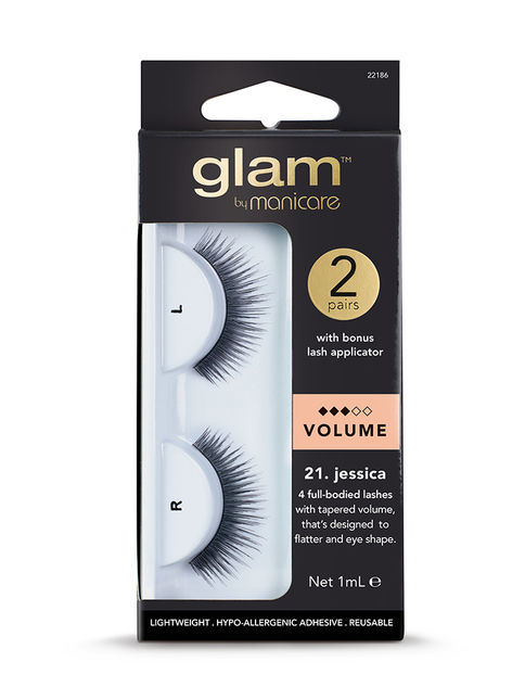 Glam by Manicare - 21. Jessica Volume Lashes (2 Pk)