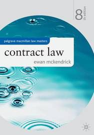 Contract Law by Ewan McKendrick image