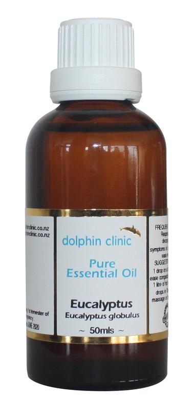 Dolphin Clinic Pure Essential Oils - Eucalyptus (50ml)