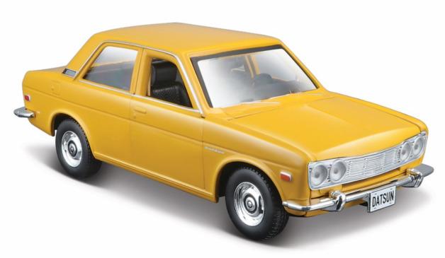 Maisto: 1:24 Die-Cast Vehicle - 1971 Datsun 510 (Yellow)