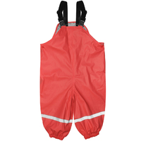 Silly Billyz Waterproof Overalls - Red (4-5 Yrs)