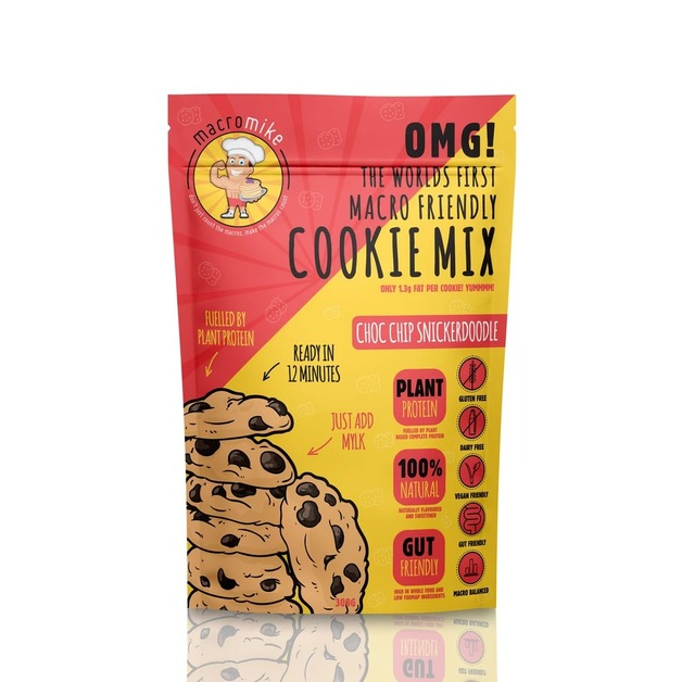 Macro Mike Baking Mix Cookies - Choc Chip Snickerdoodle (300g)