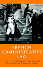 French Administrative Law by Neville Brown image