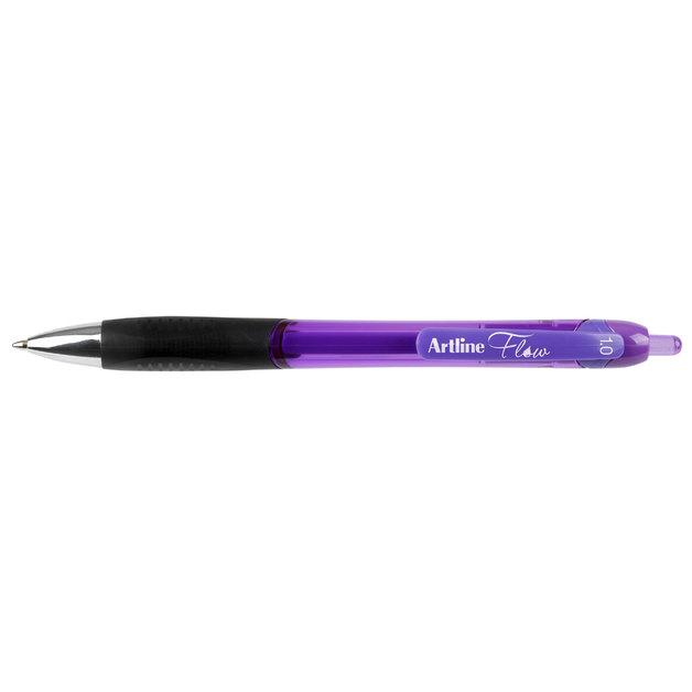 Artline Flow Retractable Pen 1mm Purple