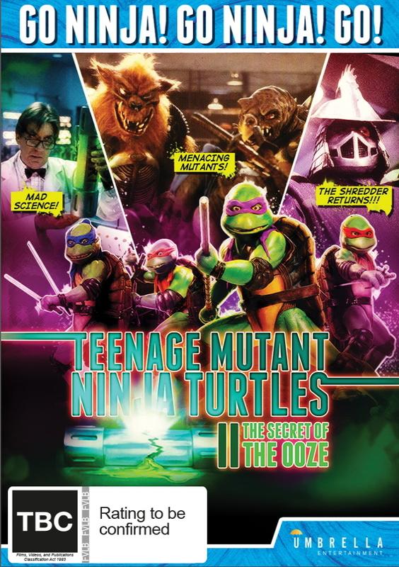 Teenage Mutant Ninja Turtles II - The Secret of the Ooze on DVD