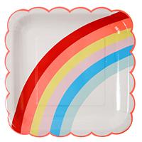 Meri Meri - Rainbow Large Plates (12 Pack)
