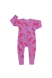 Bonds Ribby Zippy Wondersuit - Animal Party Magic Violet (3-6 Months)