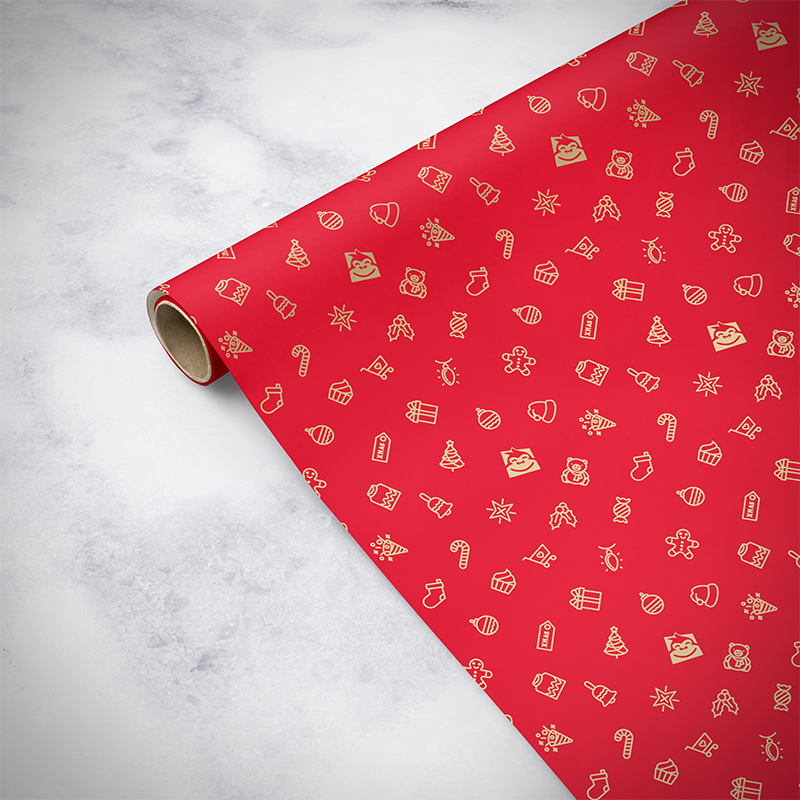 Gorilla Gift: Wrapping Paper - Christmas Red (5m) image