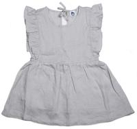 Cheeky Chimp: Linen Short Sleeved Dress - Charcoal (Size 4)