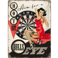 Retro Metal Pin Up Sign - Bullseye