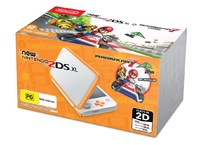 New Nintendo 2DS XL with Mario Kart 7 - White/Orange for Nintendo 3DS
