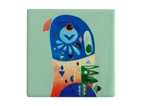 Maxwell & Williams: Pete Cromer Ceramic Square Tile Coaster - Lorikeet (9.5cm)