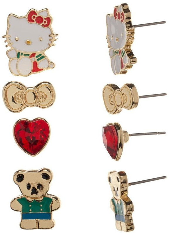 Hello Kitty - Earring Set (4-Pack)