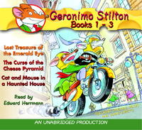 Geronimo Stilton Books 1-3: #1: Lost Treasure of the Emerald Eye; #2: The Curse of the Cheese Pyramid; #3: Cat and Mouse in a Haunted House by Geronimo Stilton