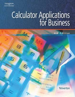 Calculator Applications for Business by Sandra Yelverton