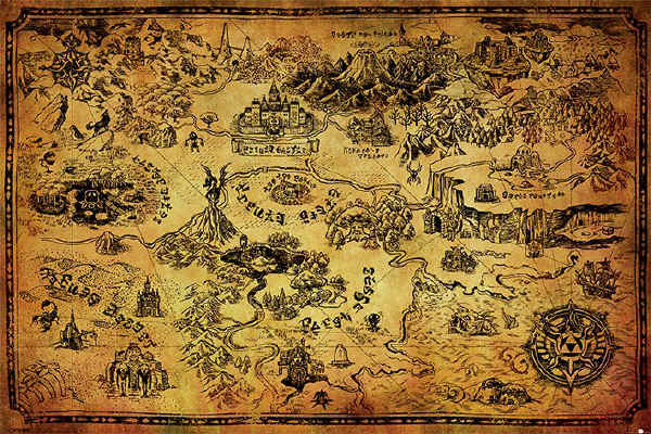 Legend Of Zelda Maxi Poster - Hyrule Map (530)