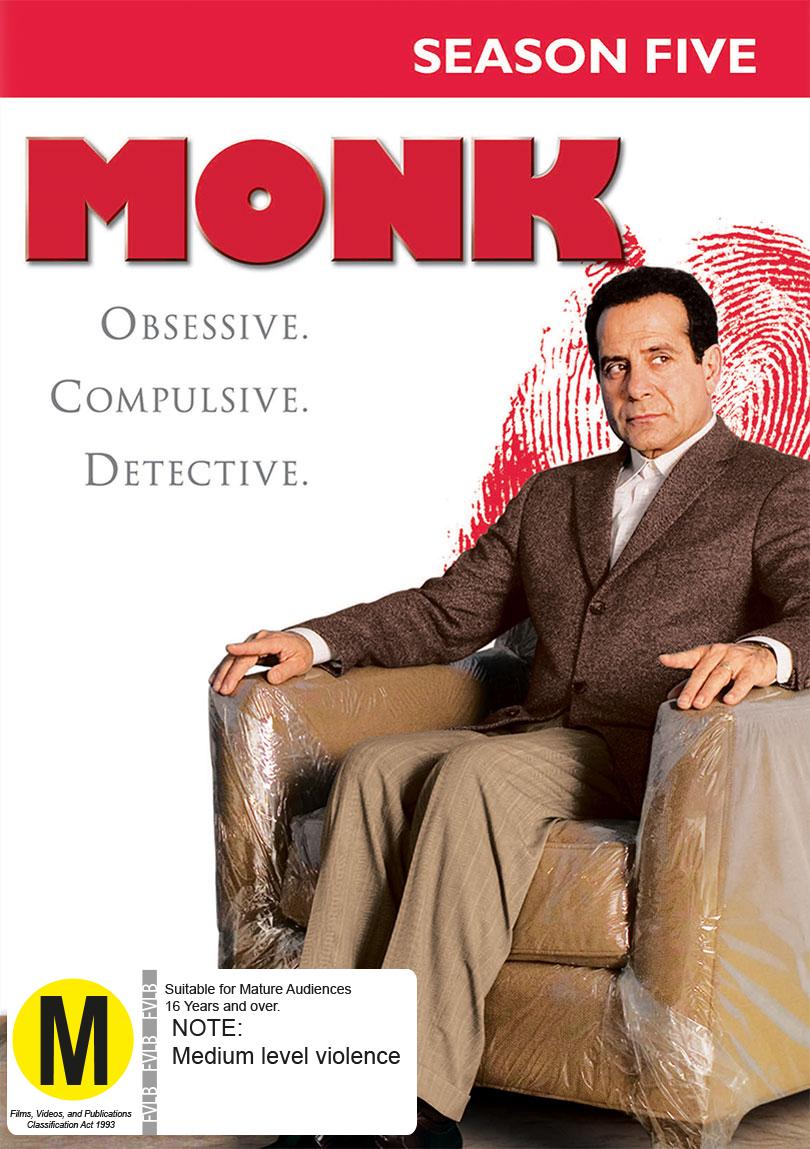 Monk - Season Five on DVD image