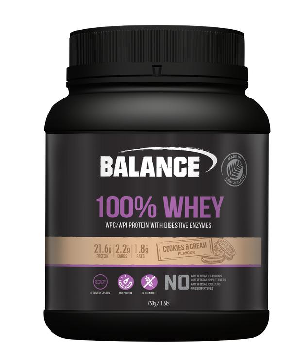 Balance 100% Whey Protein Powder - Cookies & Cream (750g)