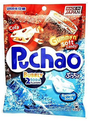 Gummyn' Soft Candy: Puchao - Cola & Ramune Soda 100g (20 Pack)