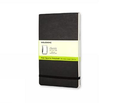 Moleskine Plain Reporter Notebook (Large, Soft, Black) by Moleskine
